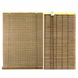 Tapparella bacchetta bambu' noce bordata chiara cm180xh300x12