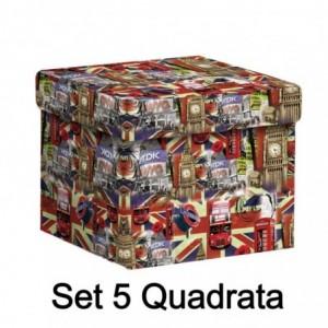 Scatola cartone 1-5 london quadra cm27,7x27,7h19,3