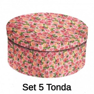 Scatola cartone 1-5 roselline tonda ø40,5h17,8