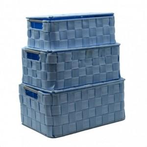Scatola poliestere 1-3 azzurro rettangolare cm30x20h13,5