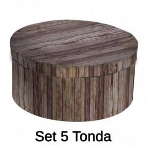 Scatola cartone 1-5 corteccia tondo cmø40,5h17,8