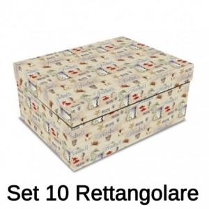 Scatola cartone 1-10 salvagente rettangolare cm43x35h17