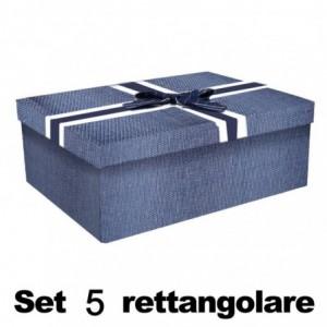 Scatola cartone 1-5 blu rettangolare cm43x34h24