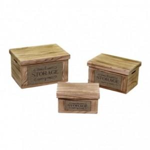Scatola legno 1-3 naturale storage rettangolare cm42x31h24