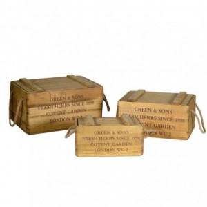 Scatola legno 1-3 rusty corner rettangolare cm38x24h19