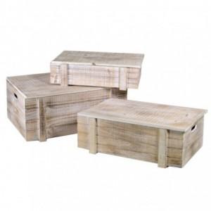 Scatola legno 1-3 sbiancato rettangolare cm50x33,5h22