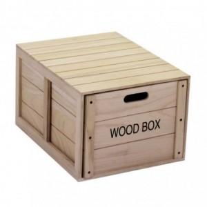 Scatola legno oxford con cassetto rettangolare cm50x39h29,5