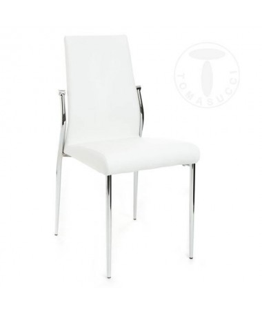 Sedia in pelle ecologica Margo - set da 4 bianca