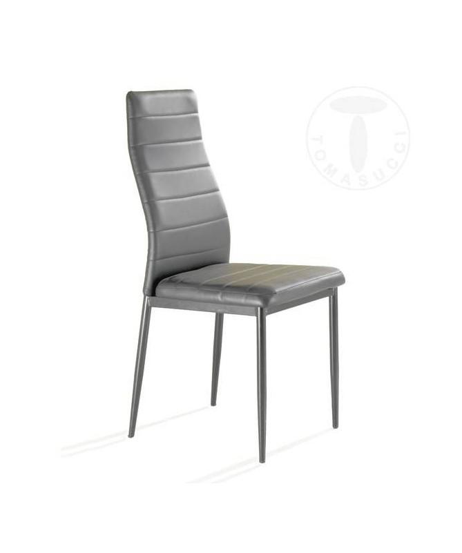Sedia in pelle ecologica Camaro - grigio