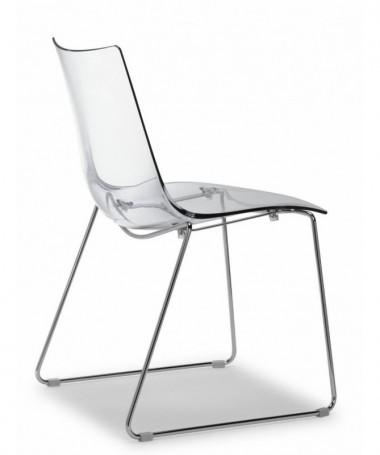 Set da 2 sedie Zebra antishock a slitta policarbonato Made in Italy