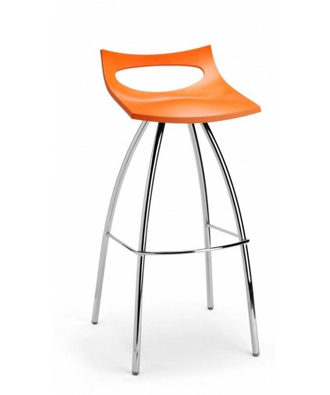 SET 2 SGABELLI DIABLITO H 65 con sedile in TECNOPOLIMERO e struttura in ACCIAIO CROMATO MADE IN ITALY COLORATI