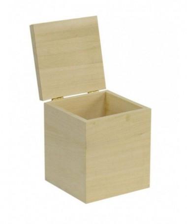 Scatole in balsa quadrate - 60 pezzi