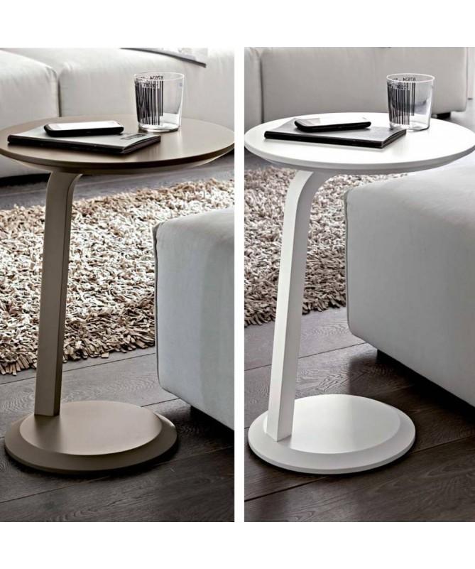 Tavolino Gioia con gamba laterale Made in Italy - disponibile in diversi colori