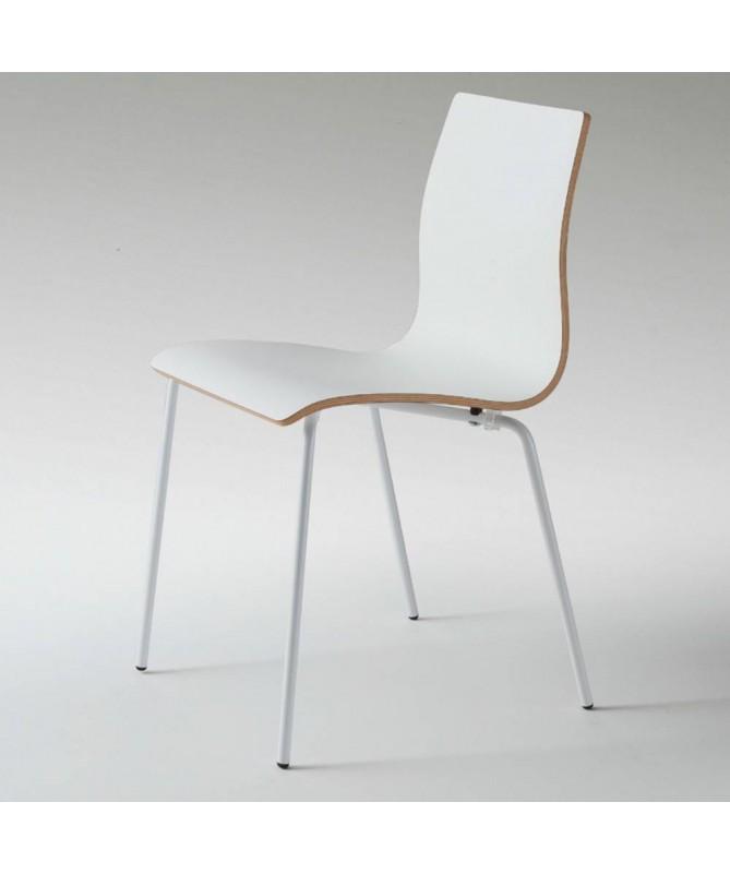 Sedia Milano in legno curvato e fenix Made in Italy - set da 2