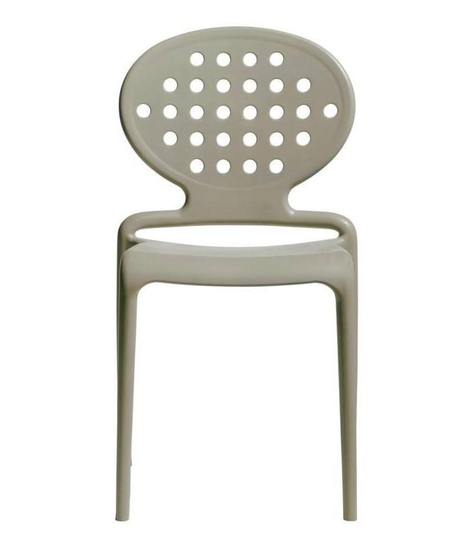Sedia in tecnopolimero set da 6 rinforzato Colette Made in Italy