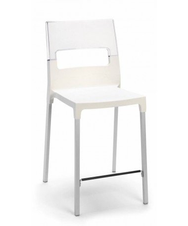 Sgabello Diva 65 cm in tecnopolimero Made in Italy - set da 2