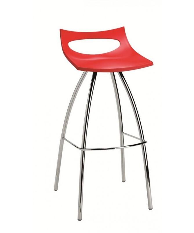 SET 2 SGABELLI DIABLITO H 80 con sedile in TECNOPOLIMERO e struttura in ACCIAIO CROMATO MADE IN ITALY COLORATI