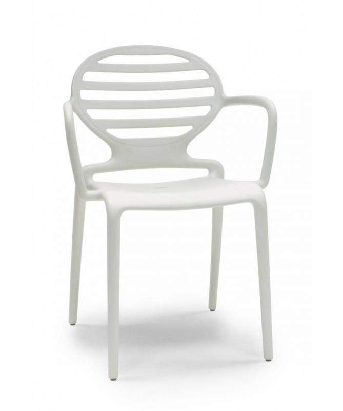 Sedia con braccioli in tecnopolimero rinforzato Cokka Made in Italy - set da 4