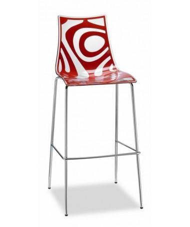 Set da 2 sgabelli Wave 80 cm set da 2 in tecnopolimero stampato Rosso