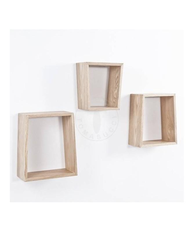Mensola Trapezio da parete - set da 3