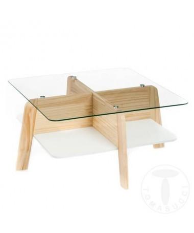 Tavolini Varm con piano in vetro