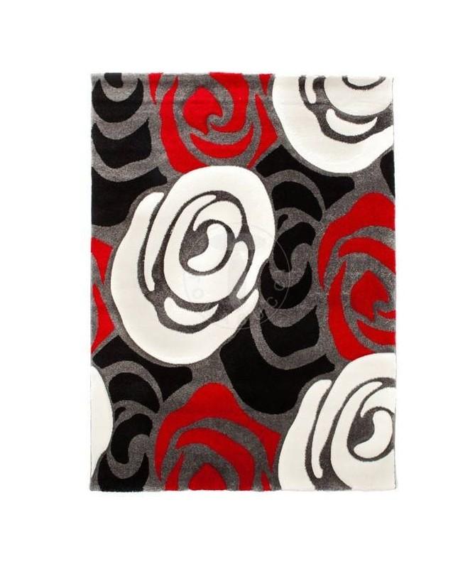 Tappeto con rose - rosso