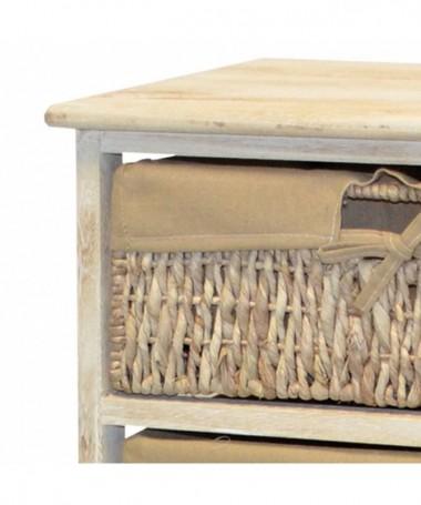 Cassettiera Angela in legno verniciato con 3 cassetti