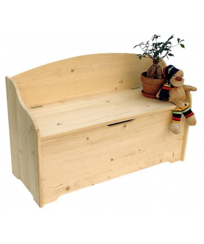 Cassapanca Cantuccio in legno massello Made in Italy