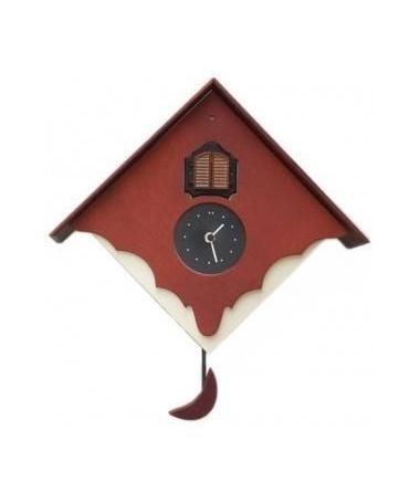 Orologio con cucù Chalet con cassa panna e frontale Made in Italy
