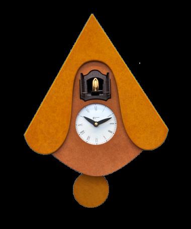 Orologio con cucù New W con cassa in mdf e tetto Made in Italy
