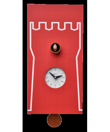 Orologio con cucù Torre stampa su in mdf Made in Italy