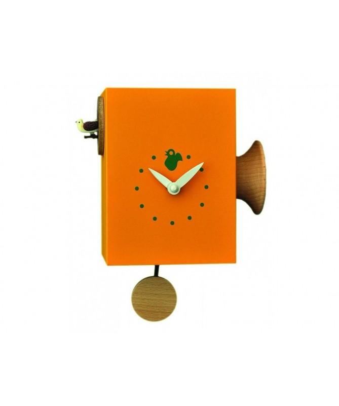 Orologio con cucù Trombettino cassa in mdf laccato Made in Italy