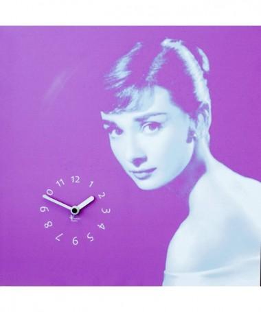 Orologio da parete Audrey con stampa su mdf Made in Italy