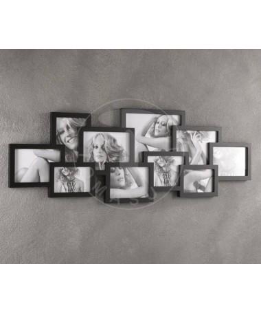 Portafoto da parete Collage per 10 foto - nero