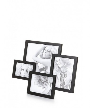 Portafoto da tavolo Collage per 4 foto - nero