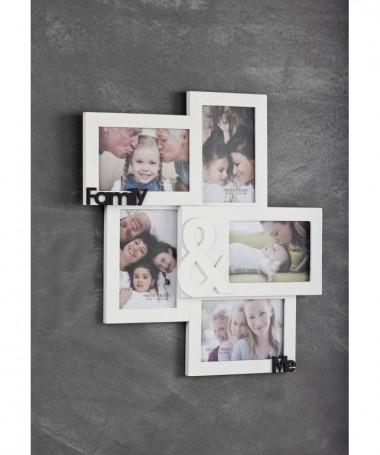 PORTAFOTO DA PARETE FAMILY & ME IN LEGNO BIANCO