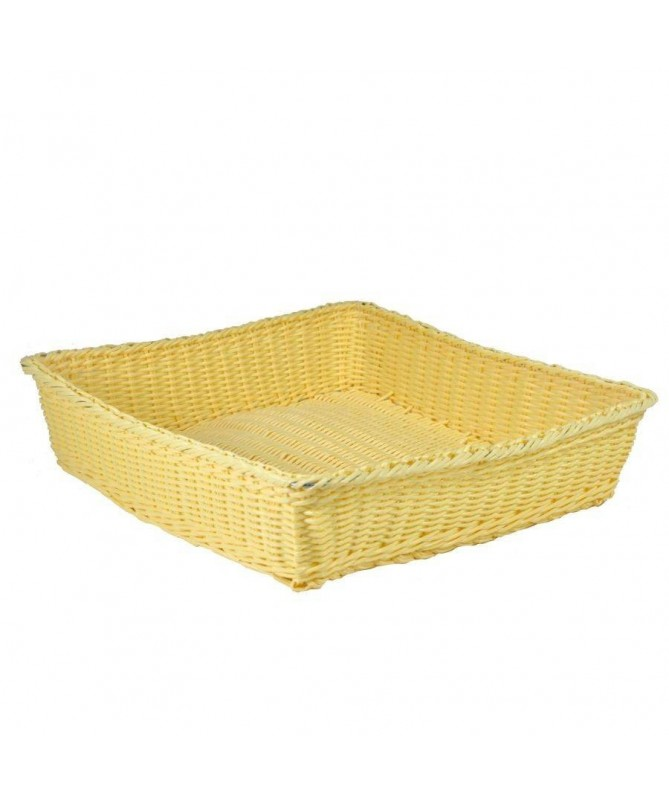 Cesta quadrata francesina - gialla