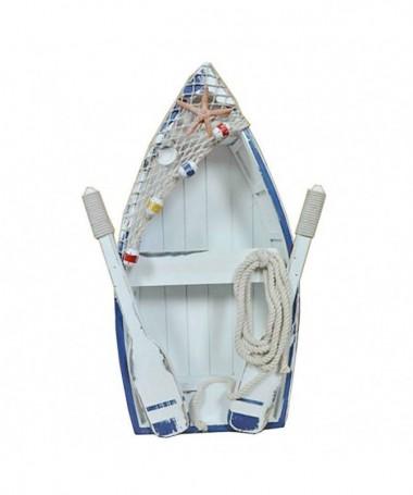 Decorazione mare barca c/remi e rete cm34x10h53