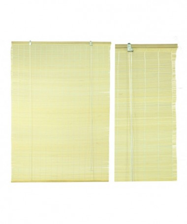 Tapparella bacchetta bambù noce bordata chiara cm180xh300x12