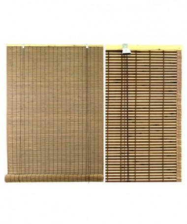 Tapparella bacchetta bambu' noce bordata scura cm200xh300x12