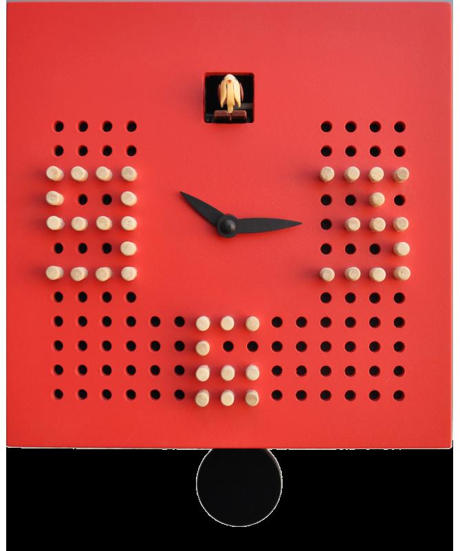 Orologio a cucù Solitario Made in Italy - rosso