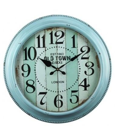 Orologio in metallo a righe - azzurro