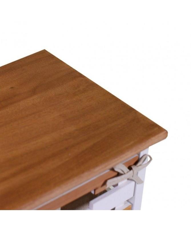 Mobiletto Matilda in legno con 4 cassetti stretto