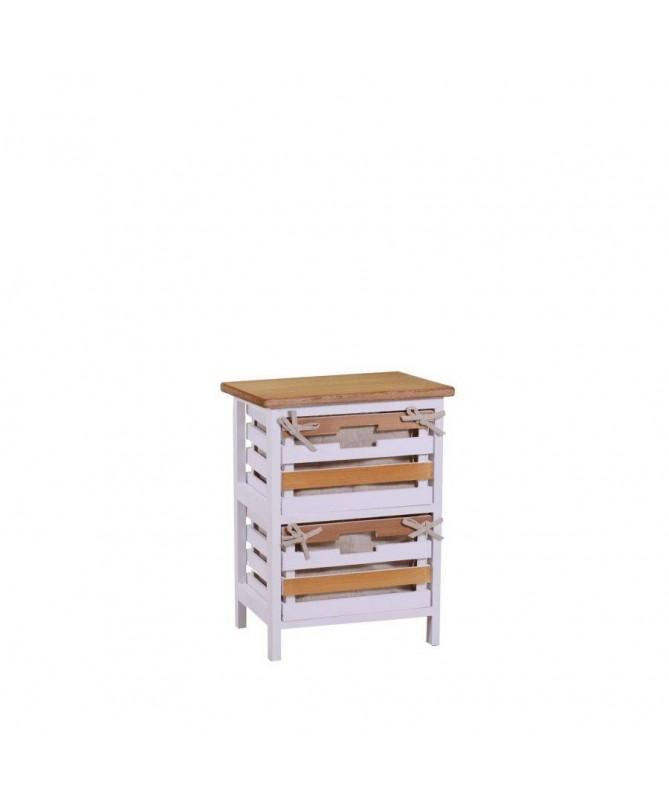Mobiletto Matilda in legno con 2 cassetti