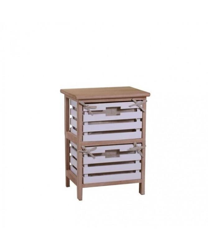 Mobiletto Arianna in legno con 2 cassetti