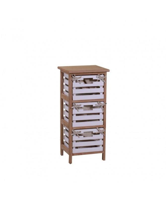 Mobiletto Arianna in legno con 3 cassetti