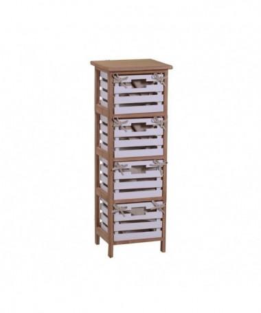 Mobiletto Arianna in legno con 4 cassetti