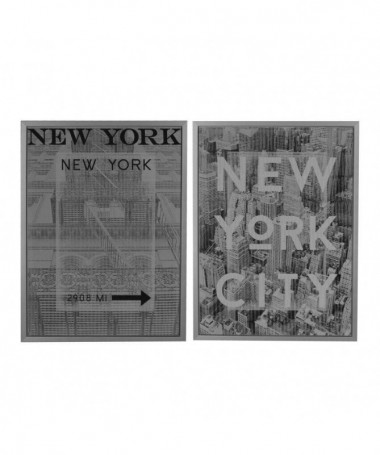 Set 2 quadri stampa New York