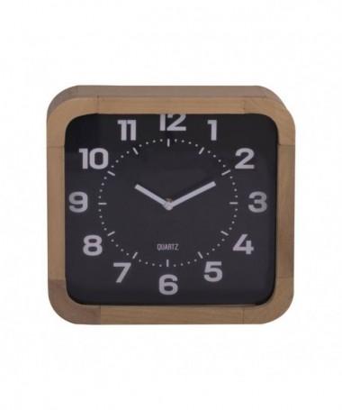 Orologio in legno naturale - nero