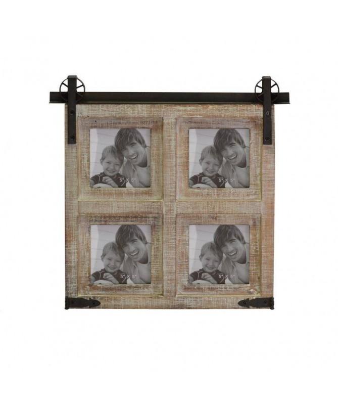 Portafoto in legno naturale da muro